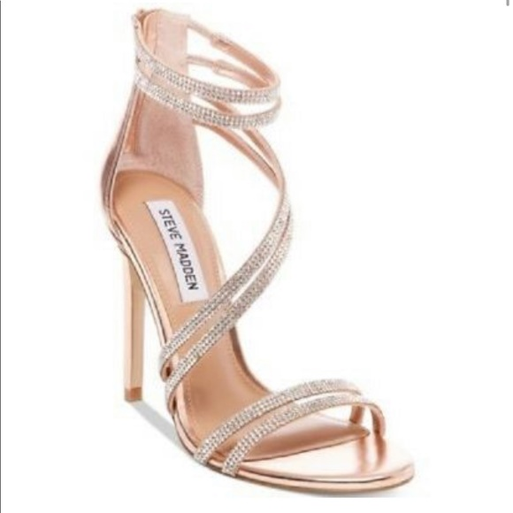 94c6d789de7 Steve Madden Sweetest Heeled Sandal Rose Gold